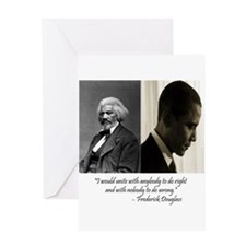 Douglass-Obama Greeting Card