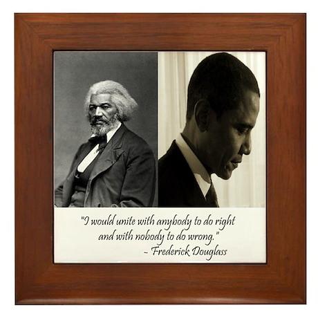 Douglass-Obama Framed Tile