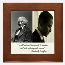 Douglass-Obama Framed Tile