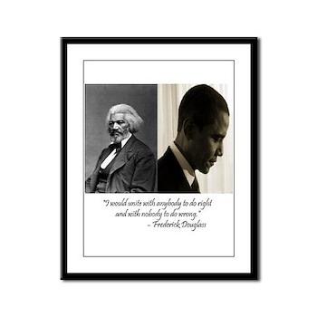 Douglass-Obama Framed Panel Print