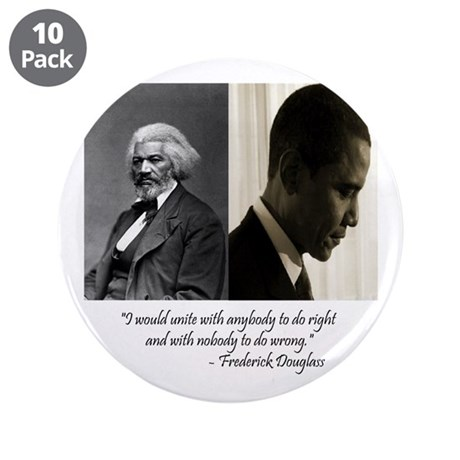 "Douglass-Obama 3.5"" Button (10 pack)"