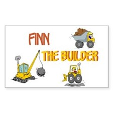 Finn the Builder Rectangle Decal