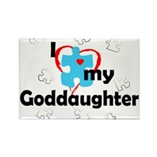 I Love My Goddaughter - Autism Rectangle Magnet