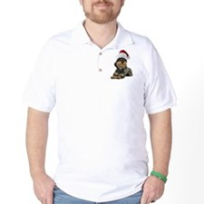 Wirehaired Dachshund Christmas T-Shirt