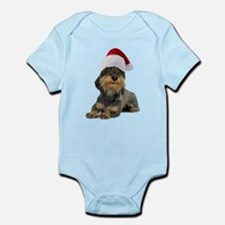 Wirehaired Dachshund Christmas Infant Bodysuit