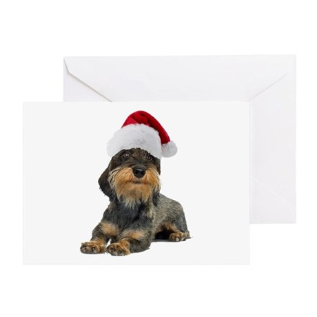 Wirehaired Dachshund Christmas Greeting Card