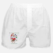 The Yuletide Weasle Boxer Shorts