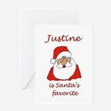 Justine Christmas Greeting Card