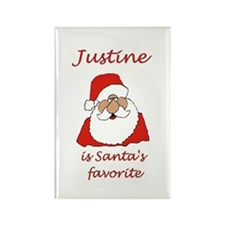 Justine Christmas Rectangle Magnet
