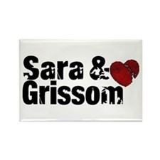 Sara & Grissom CSI Rectangle Magnet