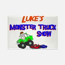 Luke's Monster Truck Rectangle Magnet