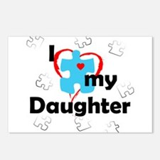 I Love My Daughter - Autism Postcards (Package of