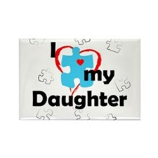 I Love My Daughter - Autism Rectangle Magnet