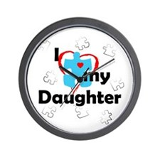 I Love My Daughter - Autism Wall Clock