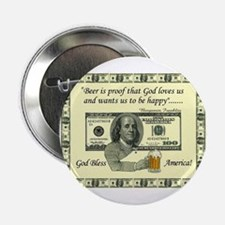 "Unique One u.s. dollar bill 2.25"" Button"