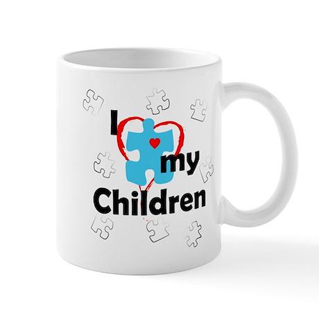 I Love My Children - Autism Mug