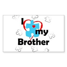 I Love My Brother - Autism Rectangle Decal