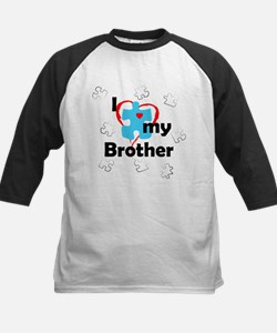 I Love My Brother - Autism Kids Baseball Jersey