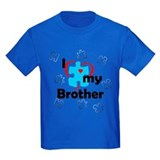 Autism awareness brothers Kids T-shirts (Dark)