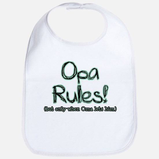Opa Rules when Oma Lets Him Bib