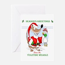 The Yuletide Weasle Greeting Card