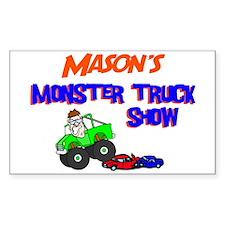 Mason's Monster Truck Rectangle Decal