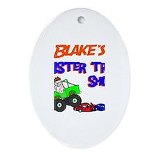 Blake's Monster Truck Oval Ornament