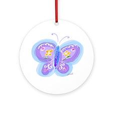 Little Butterfly Keepsake Round Ornament