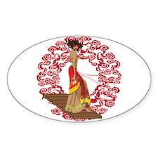 Make My Geisha Funky Oval Decal