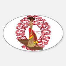 Make My Geisha Funky Oval Decal