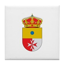 Unique Cross and crown Tile Coaster