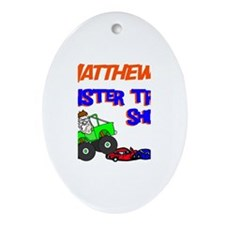 Matthew's Monster Truck Oval Ornament
