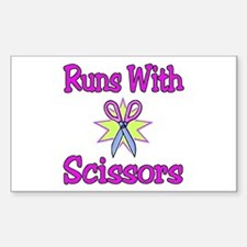 runs with scissors Rectangle Decal