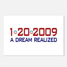 1-20-2009 Obama Dream Realized Postcards (Package