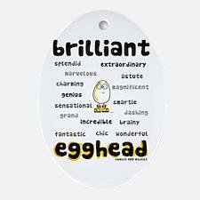 Brilliant Egghead Keepsake Oval Ornament