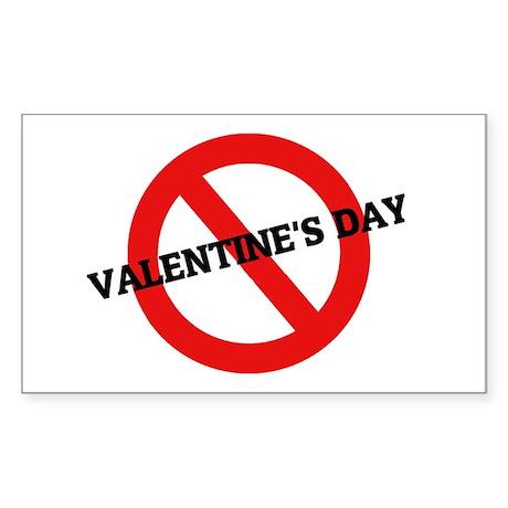 Anti Valentine's Day Rectangle Sticker