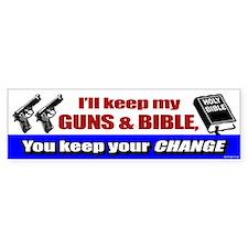 I'll Keep My Guns and Bible Bumper Bumper Sticker
