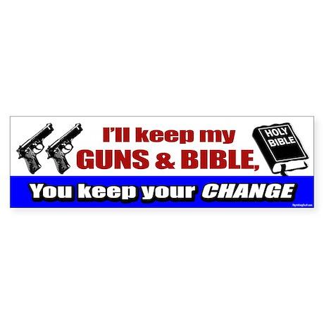 I'll Keep My Guns and Bible Bumper Sticker