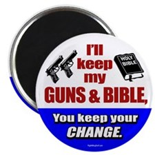 """I'll Keep My Guns and Bible 2.25"""" Magnet (10 pack)"""