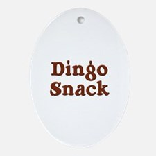 Dingo Snack Oval Ornament
