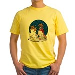 Boxer Dog and Snowman Yellow T-Shirt