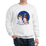 Boxer Dog and Snowman Sweatshirt