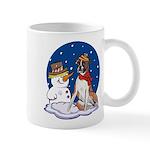Boxer Dog and Snowman Mug