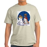 Boxer Dog and Snowman Light T-Shirt