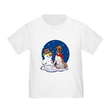 Boxer Dog and Snowman T