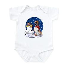 Boxer Dog and Snowman Infant Bodysuit