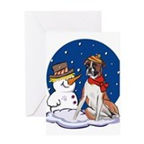 Boxer dog christmas Greeting Cards