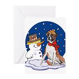 Boxer dog christmas Greeting Cards