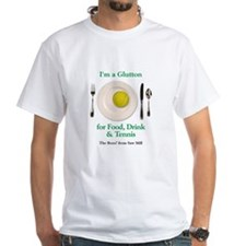 White I love Tennis and good food T-Shirt