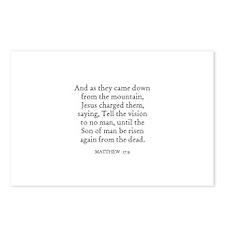 MATTHEW  17:9 Postcards (Package of 8)